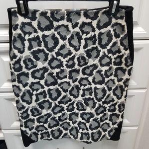 Diane Von Furstenberg DVF leopard skirt sz 6